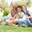 Extended group portrait of family — Stock Photo #3521148