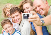 Portrait of extended family — Stock Photo