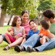 Happy family having fun in the park — Stock Photo #3605695