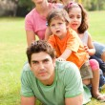 Affectionate family enjoying outdoors — Stock Photo #3605838