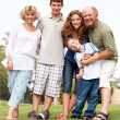 Happy family having fun in the park — Stock Photo #3605996