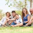 Affectionate family having fun outdoors — Stock Photo #3606007