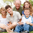Portrait of happy family of five — Stock Photo #3606014