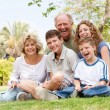 Happy family having fun in the park — Stock Photo #3606016