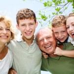 Close-up shot of a happy family — Stock Photo