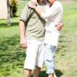 Affectionate senior couple embracing — Stock Photo #3606073