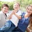 Kids having fun with mum — Stock Photo