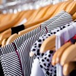Multi-coloured wardrobe showcase, closeup - Stockfoto