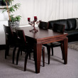 Modern dining table in an stylish house — Stock Photo