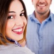 Close up of a smiling couple — Stock Photo #3715107