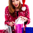 Young woman with christmas gifts — Stock Photo