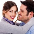 Flirting couple — Stock Photo