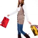Young woman enjoyed shopping — Stock Photo #3745086