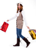 Young woman enjoyed shopping — Stock Photo