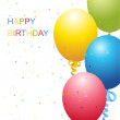 Vector birthday template — Stock Photo #3808940