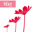 Vector floral template — Stock Photo