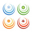 Stock Photo: Vector icons of elements of earth