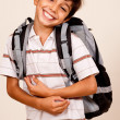 Cute School Boy — Stock Photo