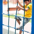Stock Photo: Young boy on playstructure