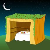 Vector sukkot hut — Stock Photo