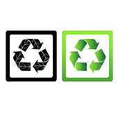 Set of vector recycle symbols — Stock Photo