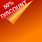 Vector discount template — Stock Photo