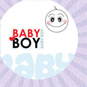 Vector baby template — Stock Photo