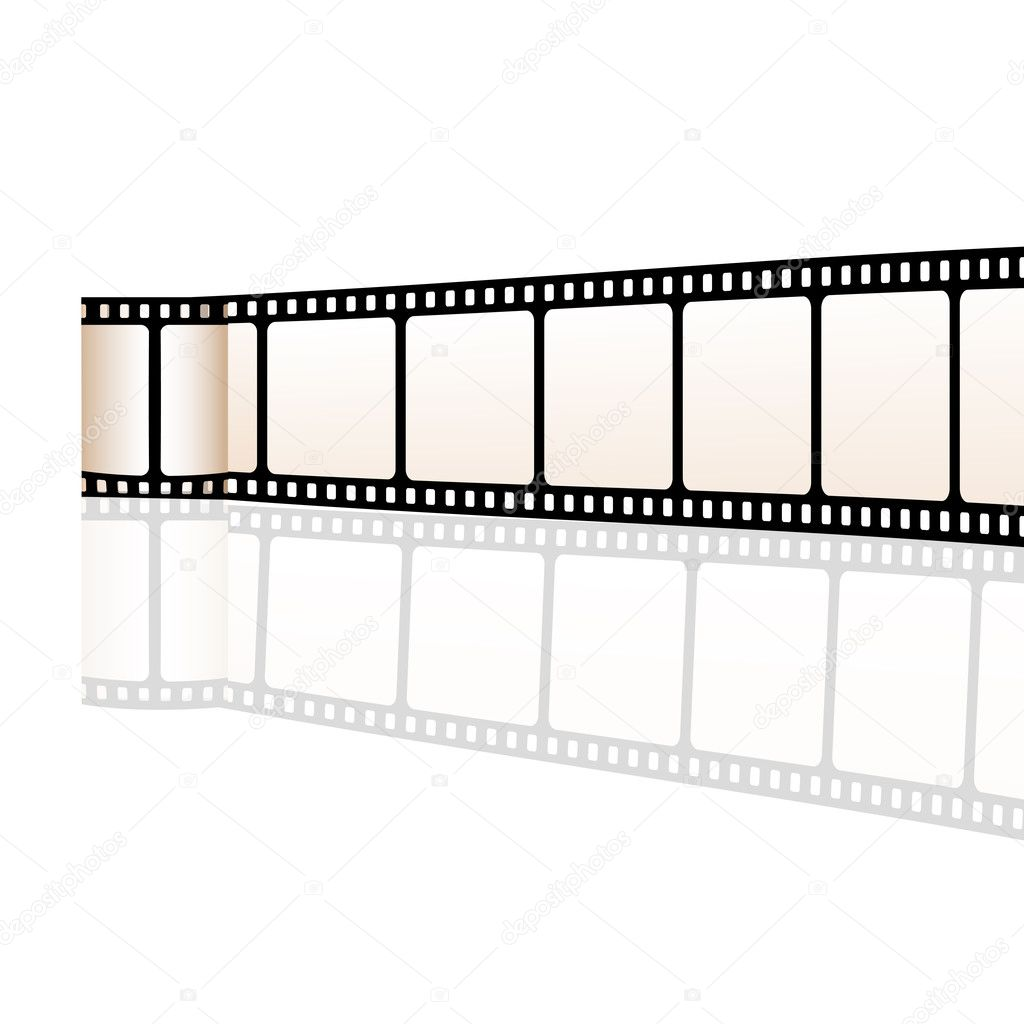 Illustration of vector film reel on white background — Stock Photo #3809120