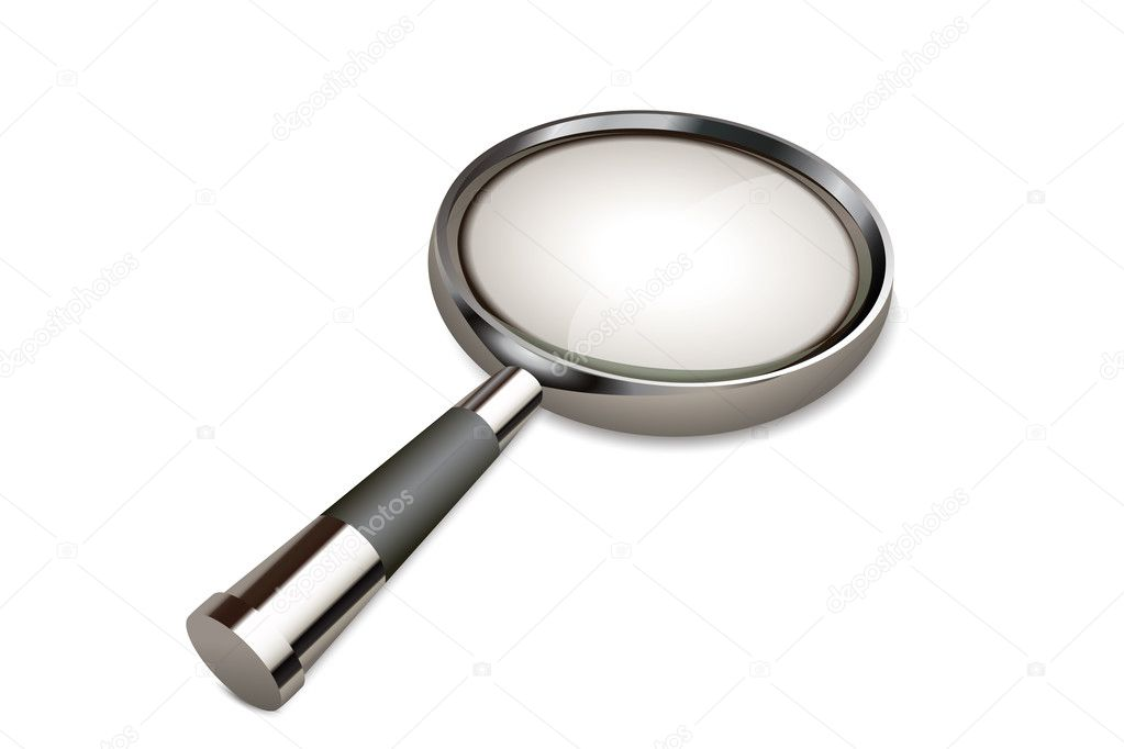 Illustration of vector magnifying glass on an isolated background  Stock Photo #3809184