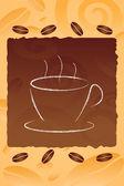 Coffee mug on cofee bean background — Stock Photo