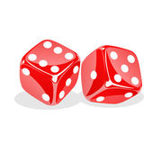 Rolling dices — Stock Photo