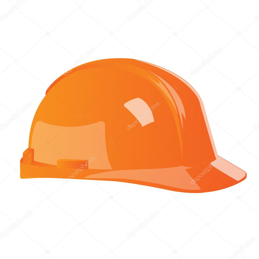 Illustration of hard hat on white background — Stock Photo #3848056