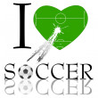 Royalty-Free Stock Photo: I love soccer