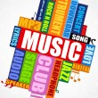 Musical word cloud — Stockfoto