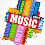 Musical word cloud — Stock Photo