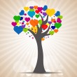 Tree with heart leaves — Stock Photo #3867798