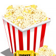 Pop corn with ticket — Foto de Stock