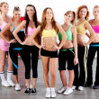 Foto Stock: Full length of fit women