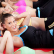 Group of doing stretching exercise — Stock Photo #3900862