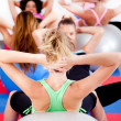 Group of doing pilates in a gym — Stock Photo #3900866