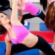 Female doing aerobics exercise - Stock Photo