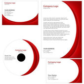 Set of business templates — Stock Photo