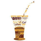 Typography cold coffee — Stock Photo