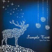 Abstracte Kerstmis herten — Stockfoto