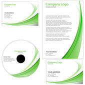Letterhead template with swirls — Stockfoto