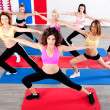 Women doing streching — Foto Stock