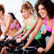 Group of doing spinning — Stock Photo