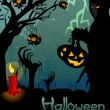 Stock Photo: Ghost with jack lantern in halloween night