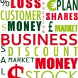 Business word collage - Stock Photo
