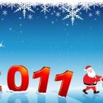 Santa claus shifting — Stock Photo #4164246
